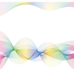 abstract color lines vector image