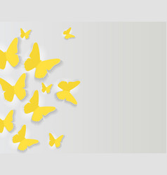 abstract paper cut out butterfly background vector image