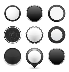 Black Buttons vector image vector image