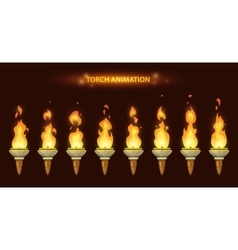 Cartoon torch animation vector image vector image