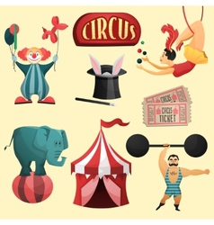 Circus decorative set vector image