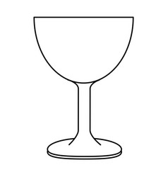 Cup chalice isolated icon vector