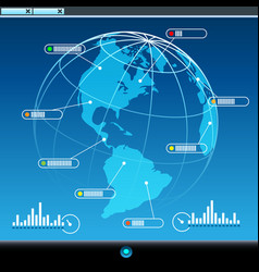 global communication concept vector image