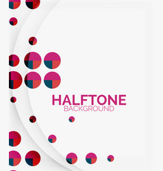 Halftone color texture background vector