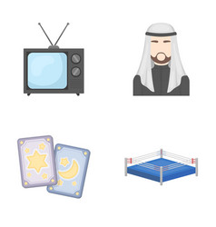 Magic television and other web icon in cartoon vector