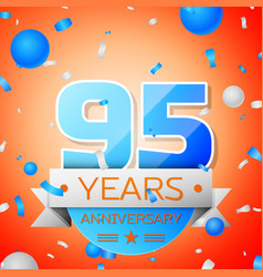 Ninety five years anniversary celebration vector