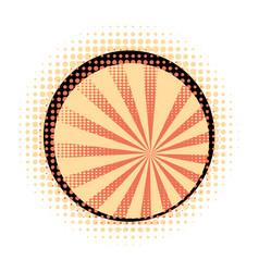 Orange rays with halftone vector