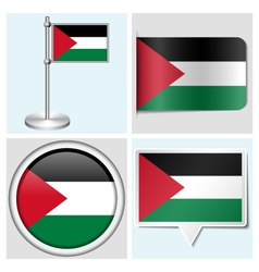 Palestine flag - sticker button label flagstaff vector