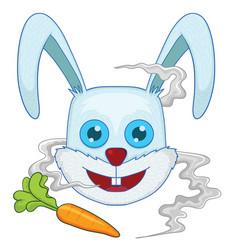 rabbit head vector image vector image