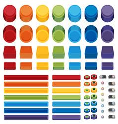 Rainbow flat web buttons vector