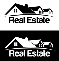 Real estate logo design template house abstract vector