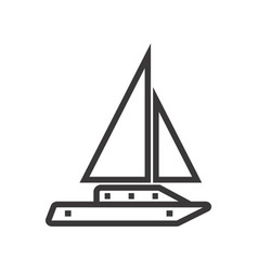 Sailboat image vector