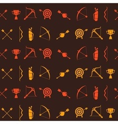 Seamless background with archery vector image vector image