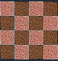 Seamless pattern with ornament vector