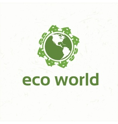 Set of ecological city and homes signs and icons vector