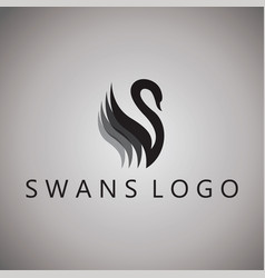 Swans logo ideas design on vector