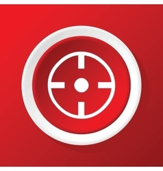 Target icon on red vector