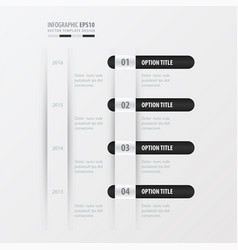 timeline design black and white color vector image vector image