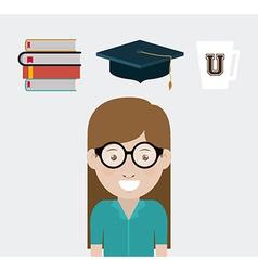 University design vector image vector image