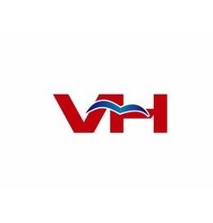 V and h logo vector