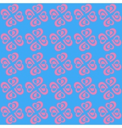 Valentine Seamless Hearts Pattern eps10 vector image
