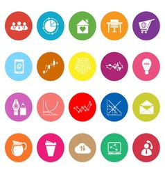 Virtual organization flat icons on white vector image vector image