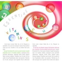 Vitamin Complex Swirl vector image vector image