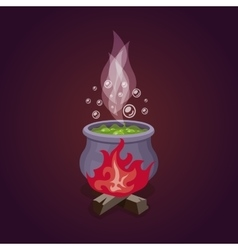 witches cauldron vector image