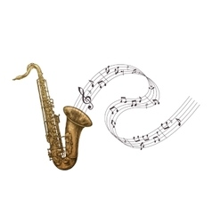Saxophone music jazz vector