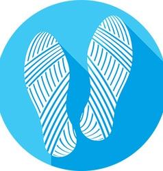 Shoe prints icon vector