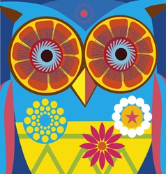 Comic owl poster vector
