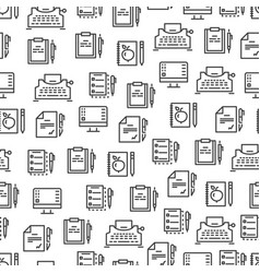 Writing tools line seamless pattern - creative vector