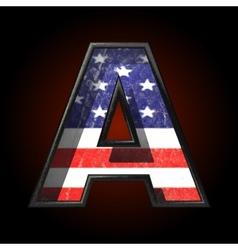 American metal figure a vector