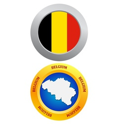 Button as the character belgium vector