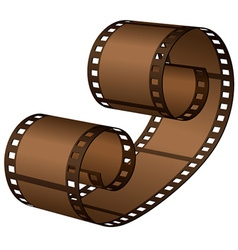 3d roll film strip vector