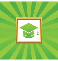 Graduation picture icon vector