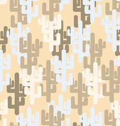 Military texture of cactus camouflage army desert vector