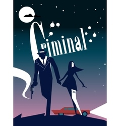 Criminal cinema poster vector