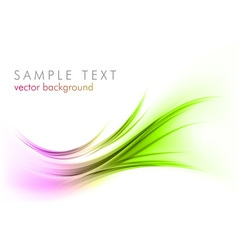 Abstract shape smoke on white curves purple green vector