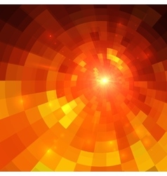 Abstract orange circle technology vector