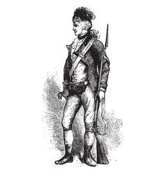 American rifleman costume vintage engraving vector