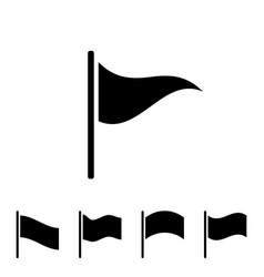 black flag icon vector image vector image