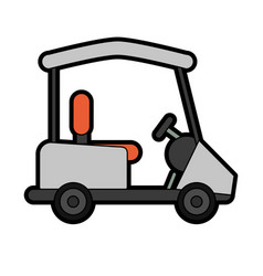 Cart golf related icon image vector