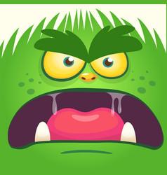 Cartoon yeti bigfoot face vector