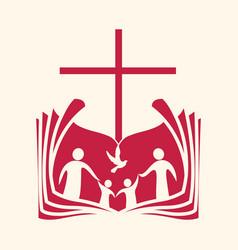 christian family vector image