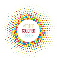 Colorful halftone vector image vector image