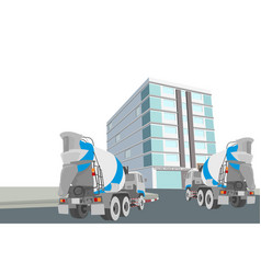 Concrete mixed service scene vector