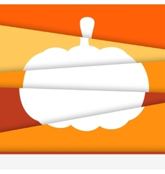 Creative Halloween card Asymmetric pumpkin formed vector image vector image