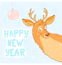 deer new year vector image vector image