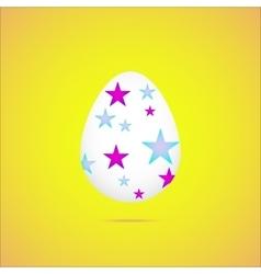 easter eggeaster egg on yellow background vector image